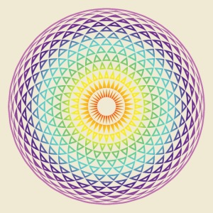 Torus Yantra Hypnotic Eye rainbow