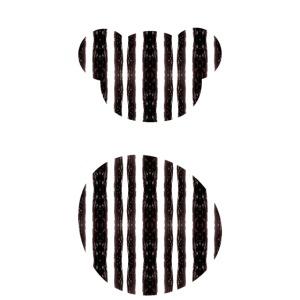 Micho Chupavi Furbal in Black White