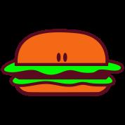 hamburger long bun with eyes