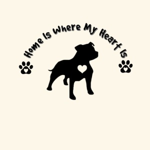 Home Is Where My Heart is Dog Lover Design