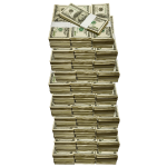 Tower of Stacked Money