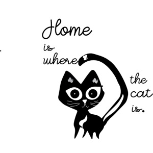 Home is where the cat is cat design
