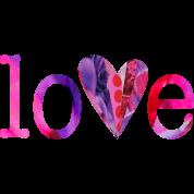 LOVE (pinks)