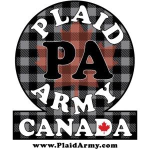 RAGING BLACK Plaid Army