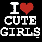 i love cute girls vintage white by wam