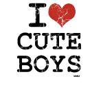 i love cute boys vintage by wam