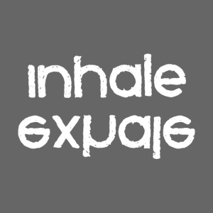 inhale exhale inverted white