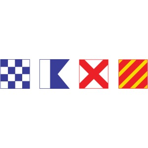 N - A - V - Y Spelled out in Signal Flags