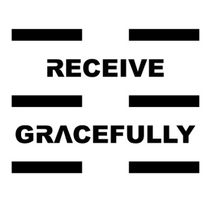 Receive Gracefully Black Letters