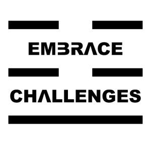 Embrace Challenges Black Letters