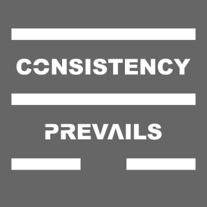 Consistency Prevails White Letters