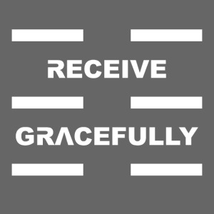Receive Gracefully White Letters