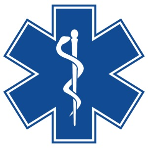 EMT Health Care Rod of Asclepius Medical Symbol