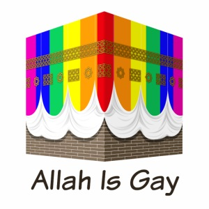 Allah Is Gay - Rainbow Kaaba