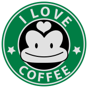 i love coffee monkey face starbucks parody cute