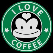 i love coffee monkey face starbucks parody cute