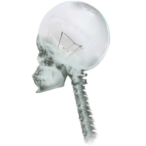 Light Bulb Skull