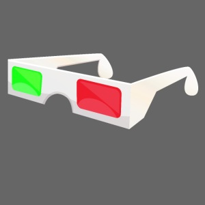 3D red green glasses