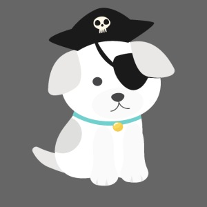 Dog with a pirate eye patch doing Vision Therapy!