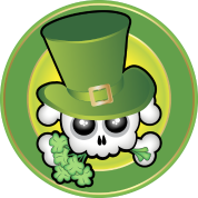 Cute Irish Skull