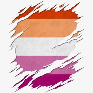 Lesbian Pride Flag Ripped Reveal