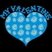 MY VALENTINE heart with swirls