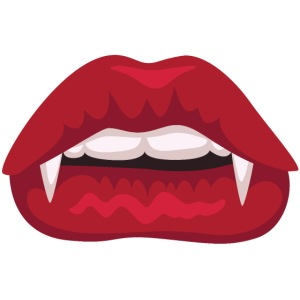 Fangs red lips (Face Mask)