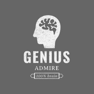 Genius, admire, 100% brain