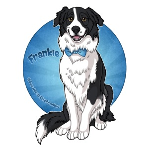 Border Collie Frankie Full Colour With Name