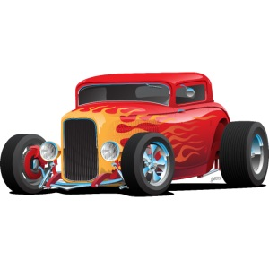 Classic Bold Red Custom Street Rod