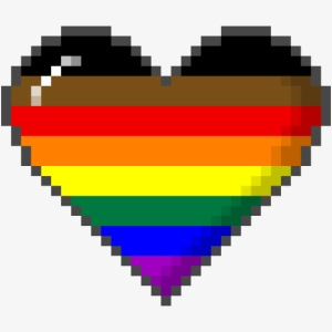 Philly LGBTQ Pride 8Bit Pixel Heart