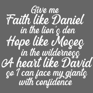 Face Your Giants with Confidence