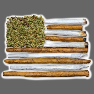 American Flag With Joint
