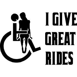 I give great rides with my wheelchair