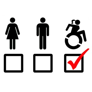 Female wheelchair user, check!