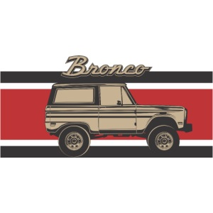 Bronco Truck Billet Design Men's T-Shirt