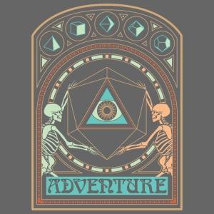 art nouveau d20 skeletons dungeons fantasy gift