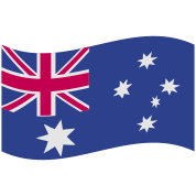 australian flag in a wave shape rough