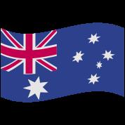 australian flag in a wave shape rough