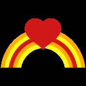 rainbow with love heart ! cute!