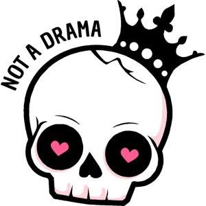 drama queen skull