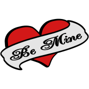 Be Mine Heart Banner Tattoo