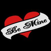 Be Mine Heart Banner Tattoo