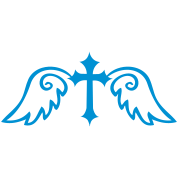 gothic cross with angel wings