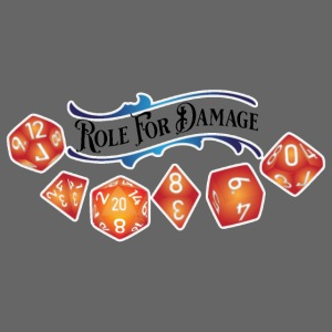 Role 4 Damage Logo Black Letters Sticker