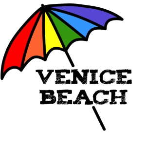 Venice Beach Rainbow Umbrella