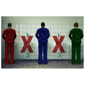 Male Restroom Etiquette: Critical Mass