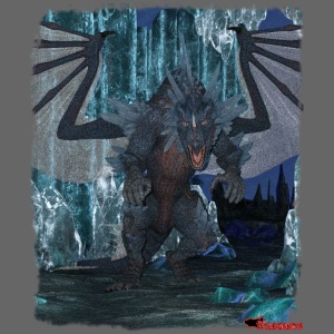 Wyldesigns: Ice Dragon In Crystal Cave