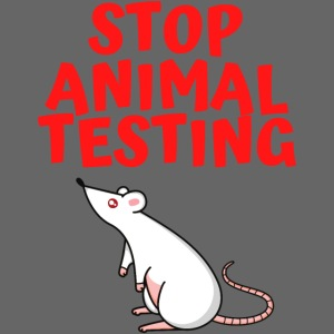 Stop Animal Testing - Defenseless White Mouse