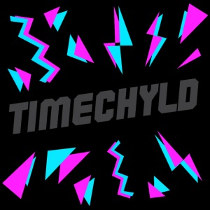 Timechyld Logo with Retro Pattern (Black)